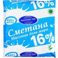 Сметана «Молочный мир» 16%, 450 г