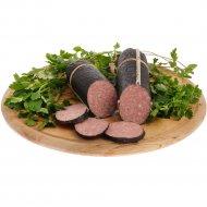 Колбаса варено-копченая «Сервелат Барбадос» салями, высшего сорта, 1 кг, фасовка 0.6-0.7 кг