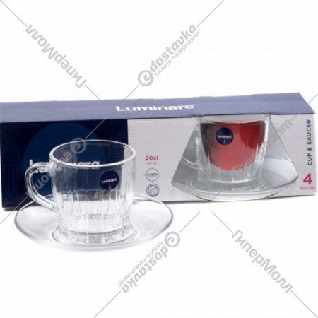 Чайный набор «Luminarc» Lance, 4 предмета, 200 мл