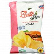 Чипсы «Zlato chips» со вкусом краба, 75 г.