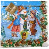 Салфетки «Luxy» Снеговик праздничный, 20 шт.