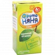 Сок «Фруто Няня» яблочный, 0.2 л.