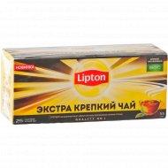 Чай чёрный «Lipton» экстра крепкий, 25 пакетиков.