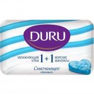 Мыло «Duru» 1+1 морские минералы+увлажняющий крем, 80 г.