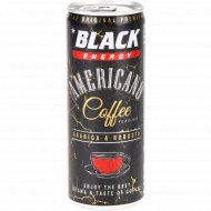 Напиток энергетический «Black energy americano coffee flavour» 0.25 л.