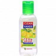 Гель для рук очищающий «Clean hands» лимон, 50 мл.