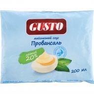 Майонезный соус «Gusto» провансаль 20%, 200 мл.