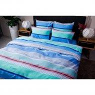 Комплект постельного белья «Ночь Нежна» Стиль, евро 50х70, голубой.