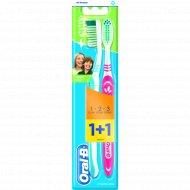Зубная щетка «Oral-B3-Effect» средняя жесткость, 1+1 шт.