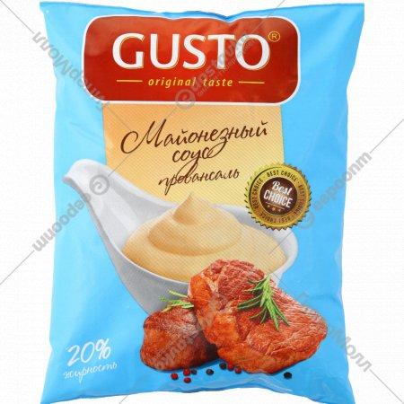 Майонезный соус «Gusto» провансаль 20%, 600 мл.