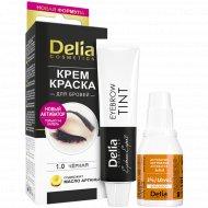 Крем-краска для бровей «Delia» тон 1.0 черный, 15 мл.