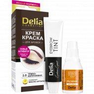 Краска для бровей «Delia» тон 3.0, темно-коричневый.