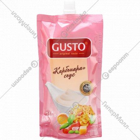 Соус «Gusto» со вкусом карбонара 210 г.