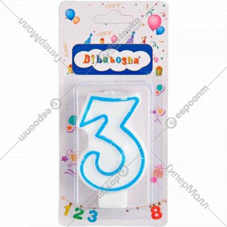 Свеча-цифра «3».