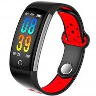 Фитнес-браслет «Sovo» SE08S, черно-красный
