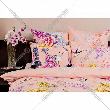 Комплект постельного белья «Ночь Нежна» Журавли, двуспальный, 50х70.
