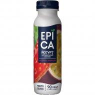 Йогурт питьевой «Epica» клубника-маракуйя 2.5%, 290 г.