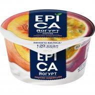 Йогурт с персиком и маракуйей