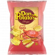 Снэки «Don Potato's» со вкусом краба 80 г.