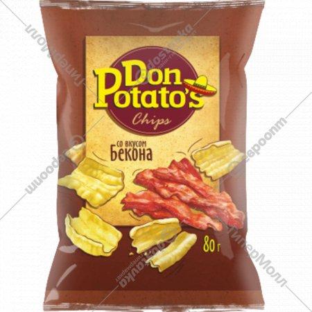 Снэки «Don Potato's» со вкусом бекона 80 г.