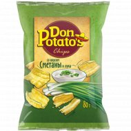 Снэки «Don Potato's» со вкусом сметаны и лука, 80 г.