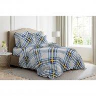 Комплект постельного белья «Ночь Нежна» Брайтон, евро 50х70, голубой.