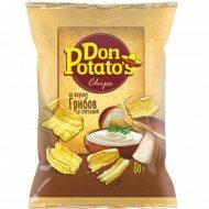 Снэки «Don Potato's» вкус грибов со сметаной 80 г.