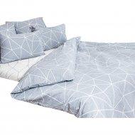 Комплект постельного белья «Ночь Нежна» Грань, евро 50х70, серый.