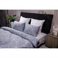 Комплект постельного белья «Ночь Нежна» Грань, евро 70х70, серый.