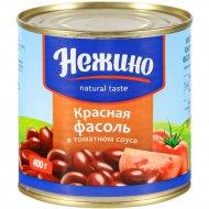 Фасоль «Нежино» красная в томатном соусе, 400 г.