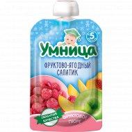 Пюре «Умница» фруктово-ягодный салатик, 100 г.