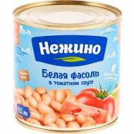 Фасоль «Нежино» белая в томатном соусе, 400 г