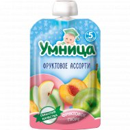 Пюре «Умница» фруктовое ассорти, 100 г.