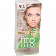Крем-краска «Fito Color» 9.1 пепельный блондин, 115 мл.