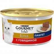 Корм для кошек «Gourmet gold» с говядиной, 85 г