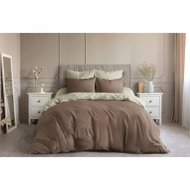 Комплект постельного белья «Ночь Нежна» Шоколад, двуспальный, 50х70.