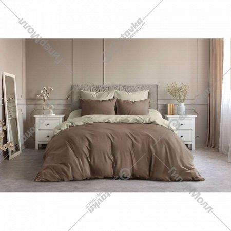 Комплект постельного белья «Ночь Нежна»Шоколад, 2 сп. евро 70х70.
