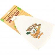 Колпак для сауны текстильный «Сижу в бане» 27x21x2 см.
