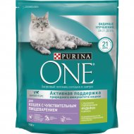 Корм для кошек «Purina One» индейка, рис, 750 г.
