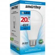 Светодиодная лампа «Smartbuy» A65 20W 6000 E27, холодный белый свет