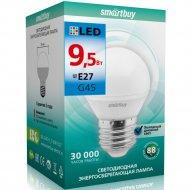 Светодиодная лампа «Smartbuy» G45-9, 5W 6000 E27, холодный белый свет