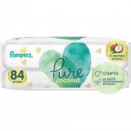 Салфетки влажные детские «Pampers» Pure Coconut, 2х42 шт