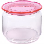 Банка «Plano Pink» стеклянная с пластмассовой крышкой, 500 мл.