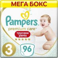 Трусики «Pampers» Premium Care, pазмер 3, 6-11 кг, 96 шт