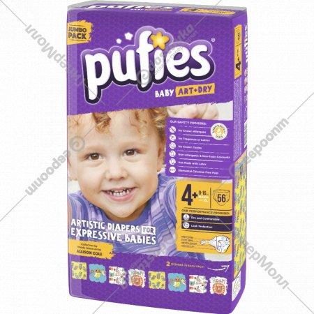 Подгузники для детей «Pufies Baby Art&Dry» Maxi+ 56 шт, 9-16 кг.