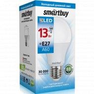Светодиодная лампа «Smartbuy»A60 13W 6000, холодный белый свет