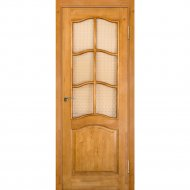 Дверь «Массив сосны» №7 Светлый лак/Бронза матовое, 200х70 см