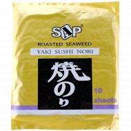 Водоросли для суши «Yaki Sushi Nori» 28 г.
