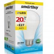 Светодиодная лампа «Smartbuy» A65 20W 3000 E27, теплый белый свет