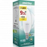 Светодиодная лампа «Smartbuy» C37-9,5W 3000 E27, теплый белый свет.